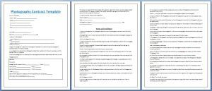 Professional Photography Contract Template Free  My Board