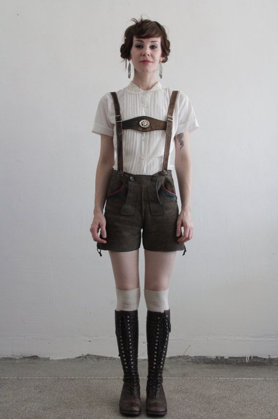 Vintage Lederhosen Suede Shorts Made in Germany