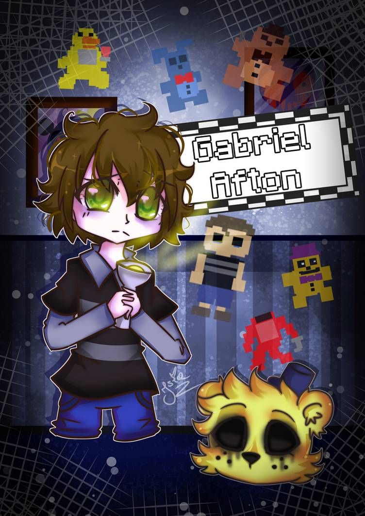 Gabriel Afton Fnaf Afton Family 3 5 By Isia7 On Deviantart Fnaf Wallpapers Anime Fnaf Fnaf Funny