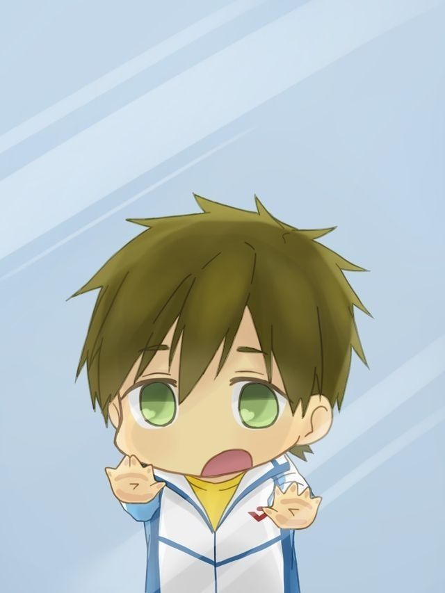 Free Iwatobi Swim Club Makoto Tachibana Cute Lockscreens Anime Behind Glass Character Wallpaper Free chibi anime wallpaper