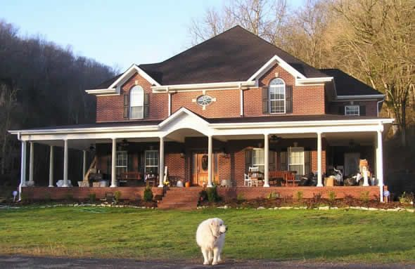 Brick house and wrap around porch exterior pinterest Brick home plans with wrap around porch