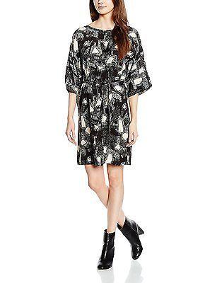 12, Black - Schwarz (CAVIAR), Nümph Women\'s Alba Dress Dress NEW ...