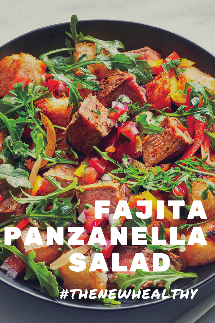 The Goodness Of Steak Fajitas And The Comfort Of A Tuscan Bread Salad For Under 400 Calories Count Us Quick Family Meals Cooking Light Recipes Dinner Salads