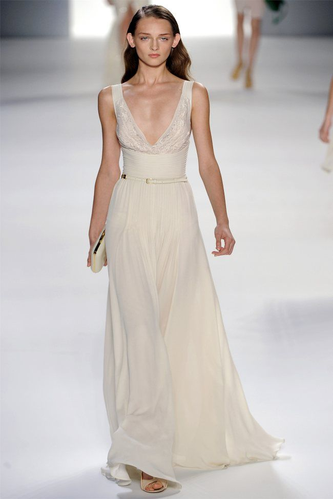 Elie Saab Spring 2012. I'm going to take this time and post all of the Elie Saab dresses that I'm madly in love with.