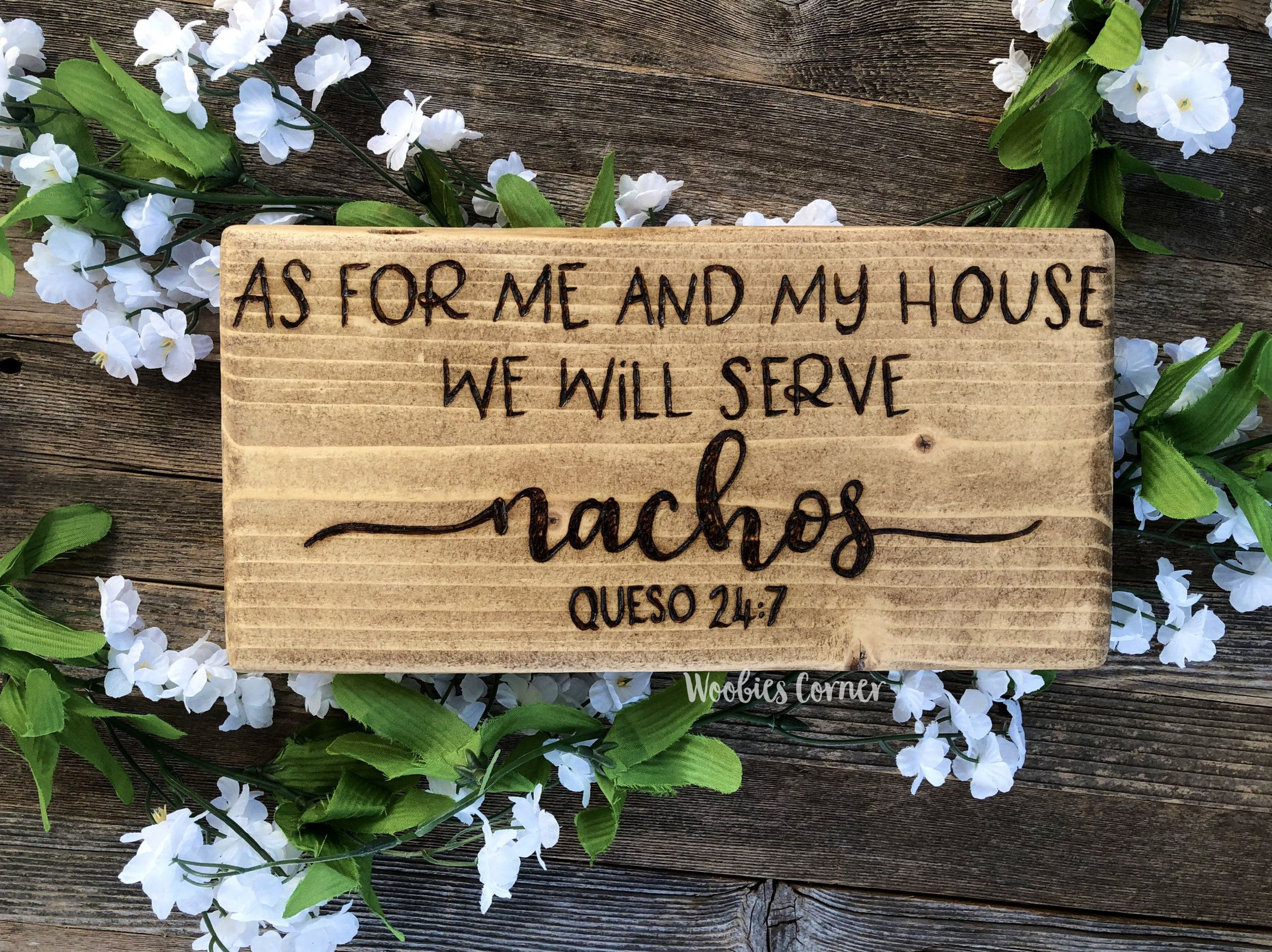 As For Me And My House We Serve Nachos, Funny Key Holder, Kitchen Key Rack,  Rustic Kitchen Sign, Kitchen Wall Decor, Funny Kitchen Quotes By  WoobiesCorner ...