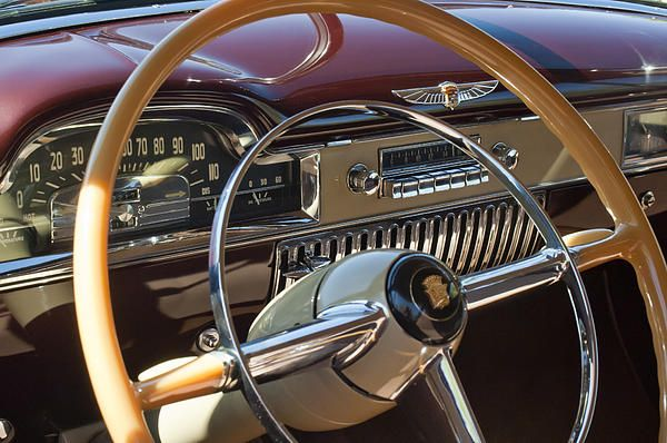 1949 Cadillac Sedanette Steering Wheel Photograph by Jill Reger - 1949 Cadillac Sedanette Steering Wheel Fine Art Prints and Posters for Sale
