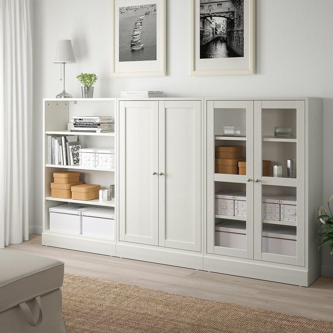 HAVSTA Storage combination w/glass doors white IKEA in