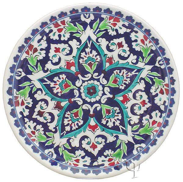 Iznik Design Ceramic Plate Baba Nakkash Yurdan Com Desenler Pano Tasarimi Tezhip