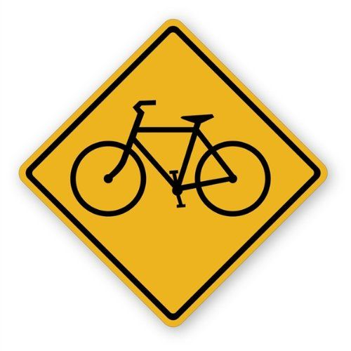 Walls 360 Peel Stick Traffic and Street Sign Wall Decals Bicycle ...