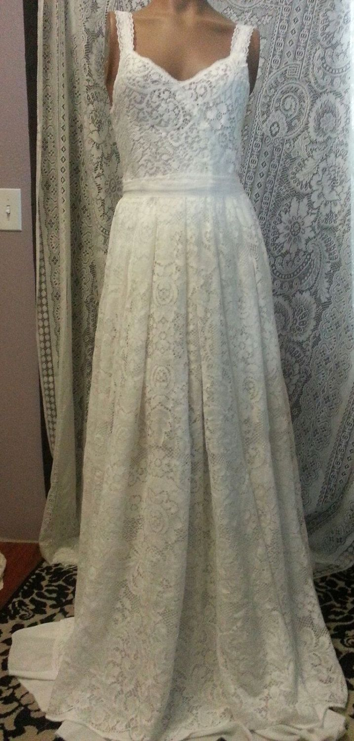 One of a kind wedding dresses  Eco friendly Lace Wedding dress recycled one of by MacolieMonster