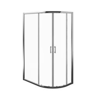 Edge 6 Offset Quadrant Shower Enclosure Tray With Double Sliding Doors W 1200mm D 800mm Quadrant Shower Enclosures Double Sliding Doors Quadrant Shower