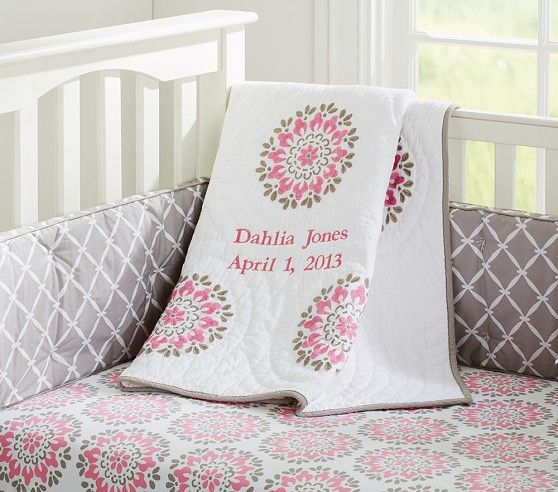 Dahlia Nursery Bedding Pottery Barn Kids 164