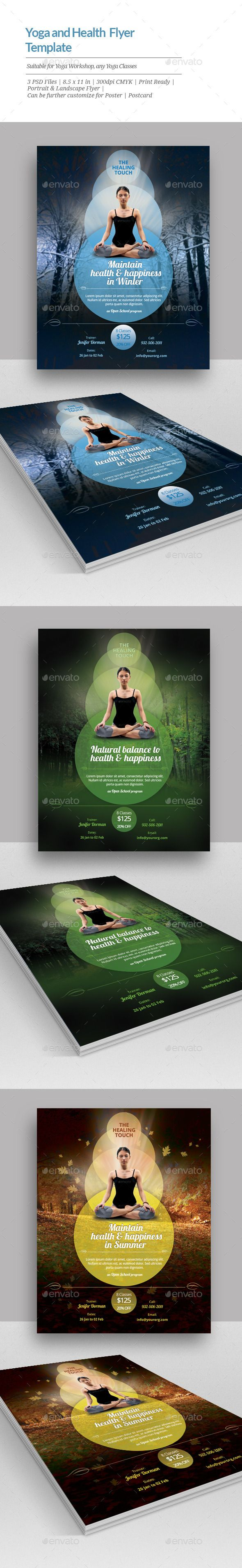 Yoga and Health Flyer Templates | Werbung und Magazin