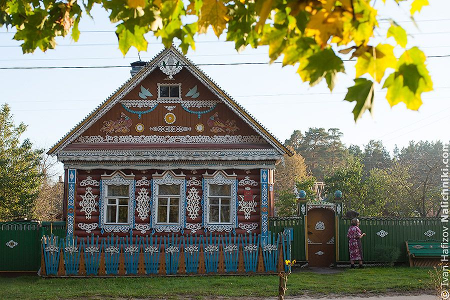 Small old wooden house in Russia