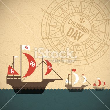 Columbus Day Fleet Of Ships Background Concept Eps 10 File Columbus Day Fleet Of Ships Day