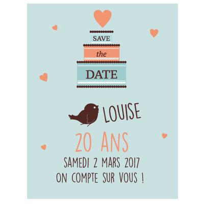 Relativ Invitation 20 ans fille | Filles, Invitation anniversaire et  QM77