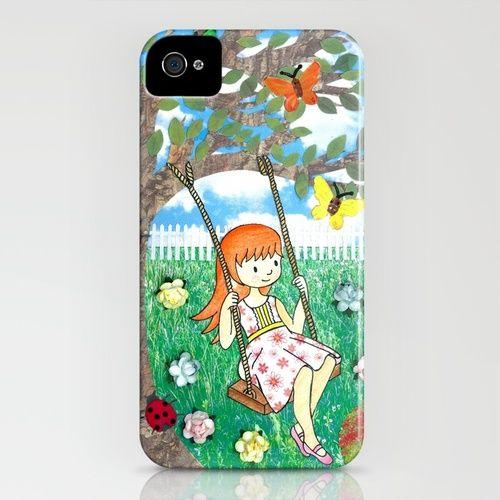 In The Garden - iPhone case by jadeboylan - http://society6.com/jadeboylan/Wheres-Charlie-Bonnie-and-Hanna-in-the-Garden_iPhone-Case