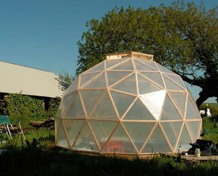 a beautifully efficient diy dome greenhouse dome greenhouse tiny houses and house - Dome Greenhouse Designs