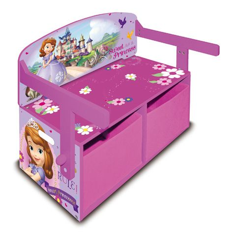 Venta banco 3 en 1 princesa sof a de disney muebles for Muebles de princesas