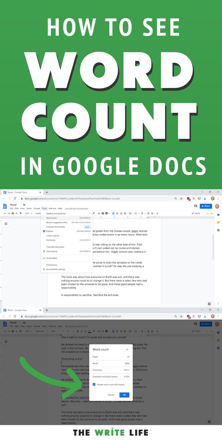 How to see your word count in google docs as youre