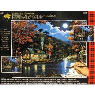 Plaid Lakeside Cabin Paint By Number Shop Hobby Lobby