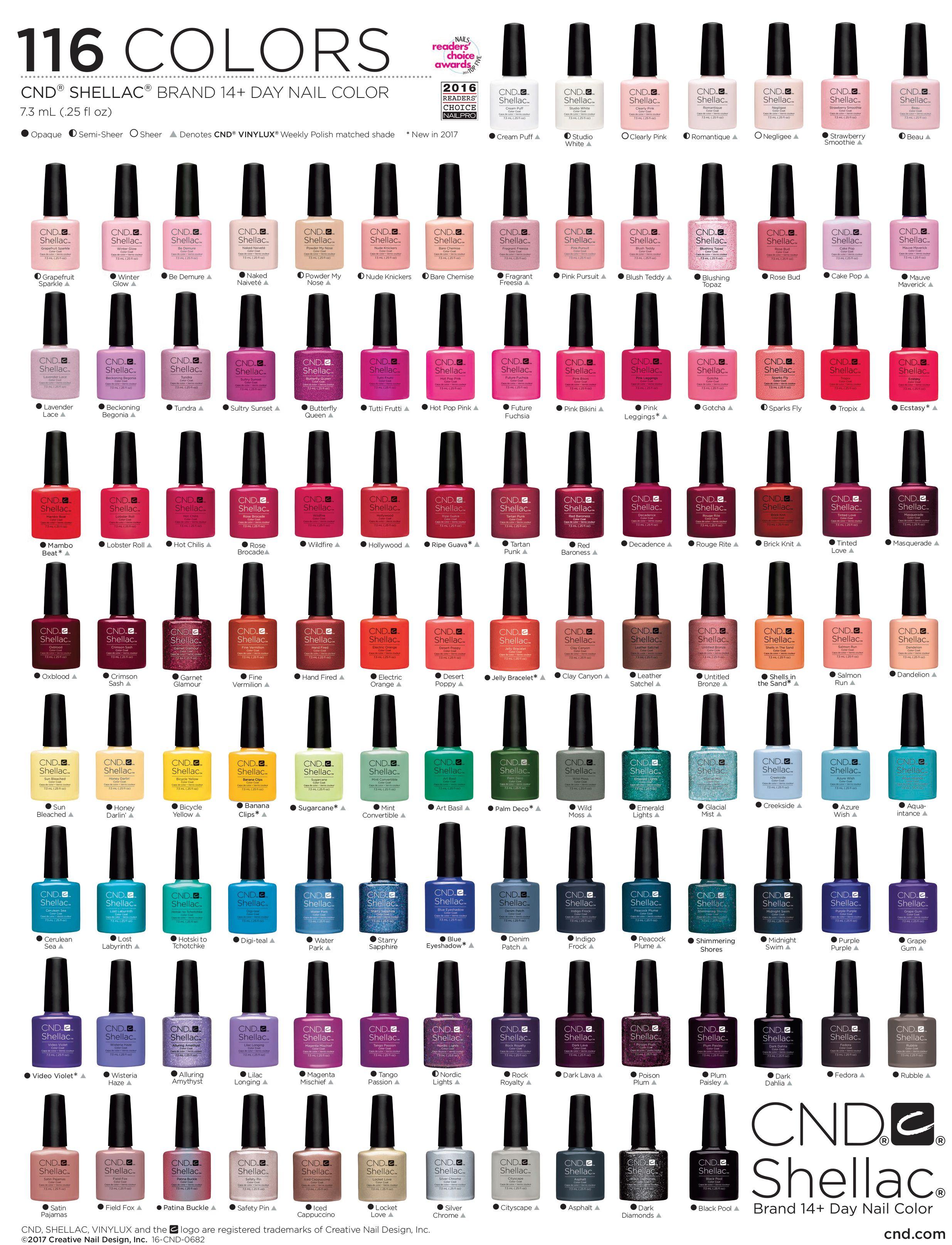 Cnd shellac nail polish chart beauty tips pinterest shellac