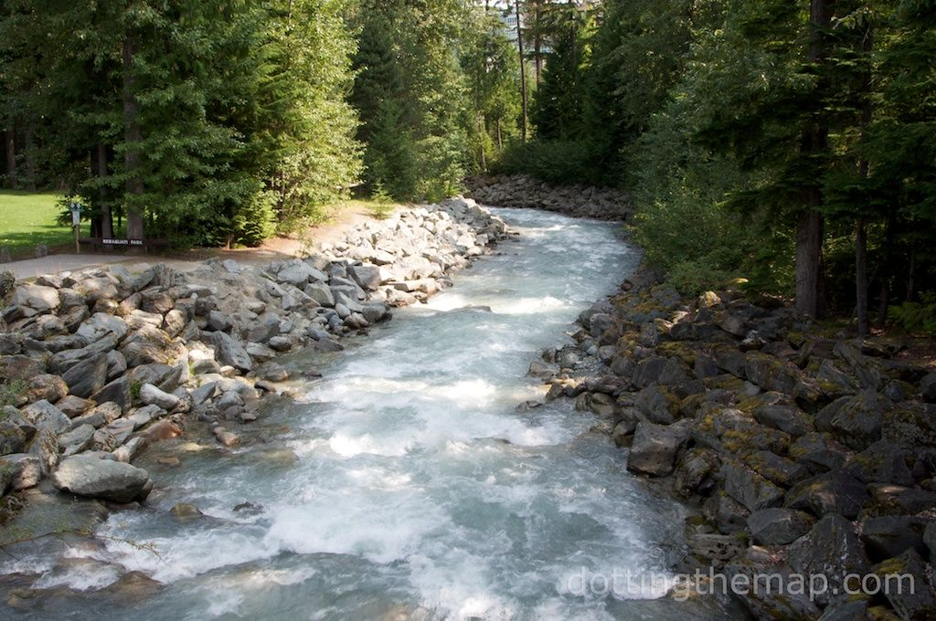 Fitzsimmons creek in Whistler