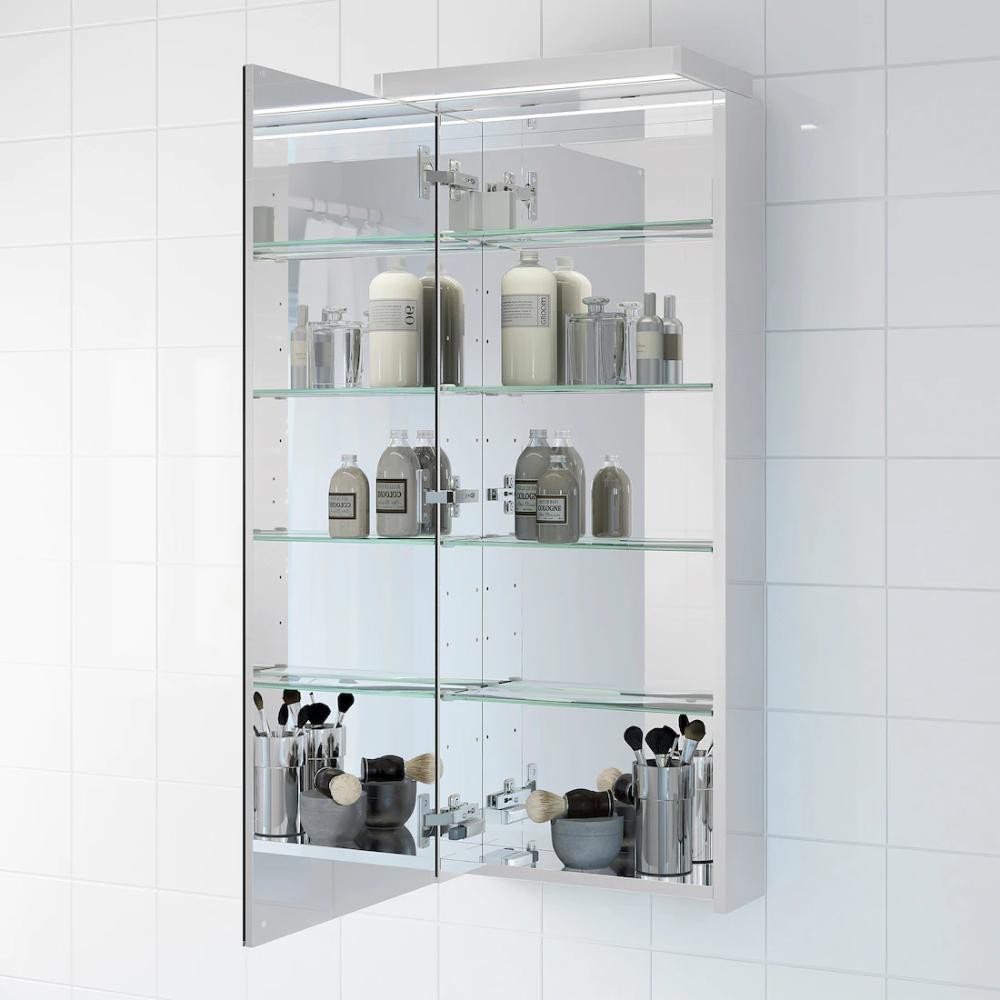Godmorgon Mirror Cabinet With 1 Door 15 3 4x5 1 2x37 3 4 Ikea In 2020 Mirror Cabinets Bathroom Mirror Cabinet Glass Shelves In Bathroom