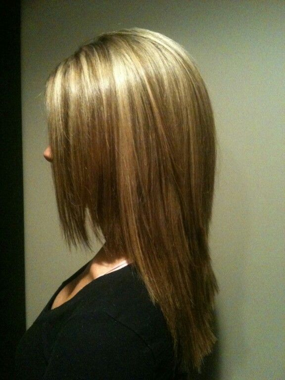 My new hair color! Brown with extreme blonde highlights on top ...