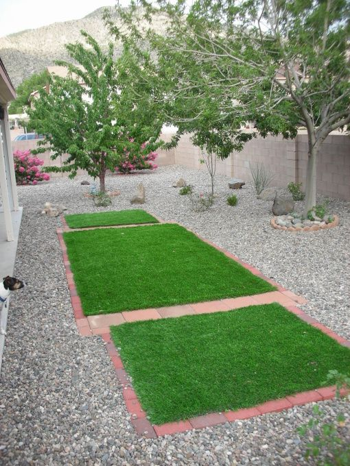 Xeriscaped albuquerque backyard love the idea of a few for Xeriscaped backyard design
