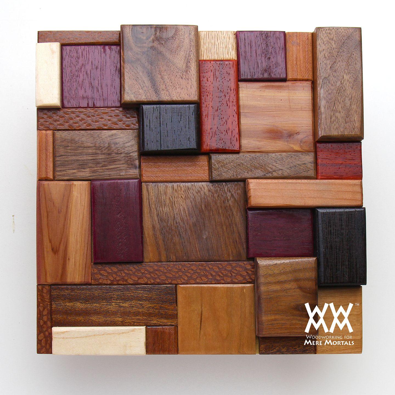 Scrap wood art project.   Woodworking for Mere Mortals