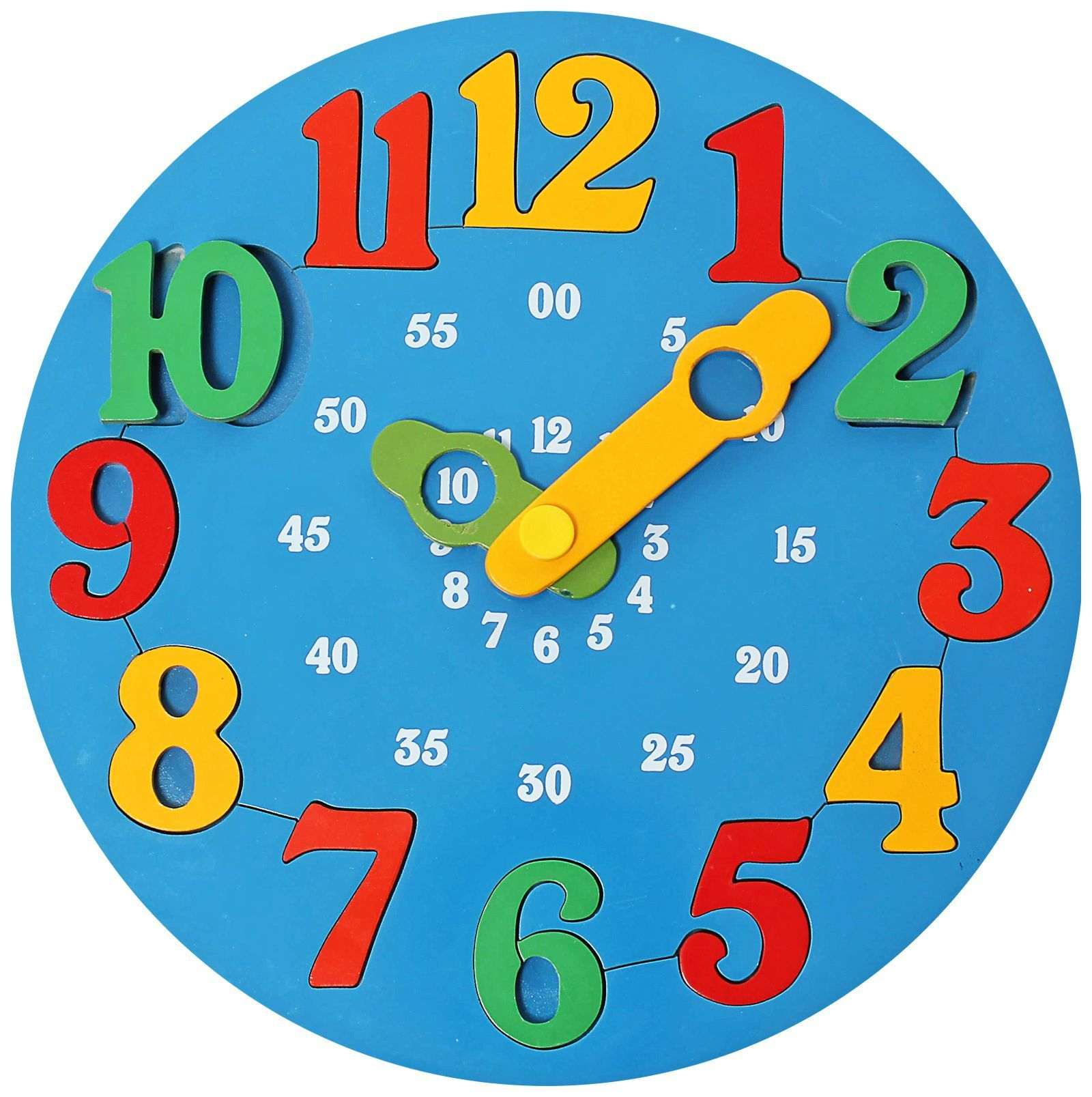 Little Genius Wooden Time Learning Clock Blue line India Buy