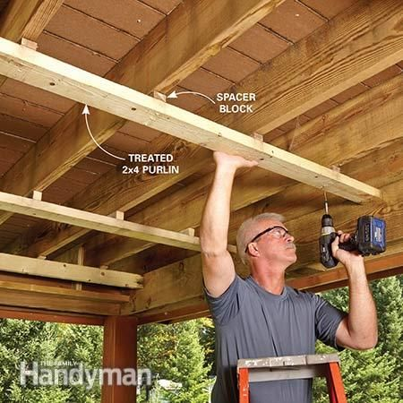 How To Build An Under Deck Roof With
