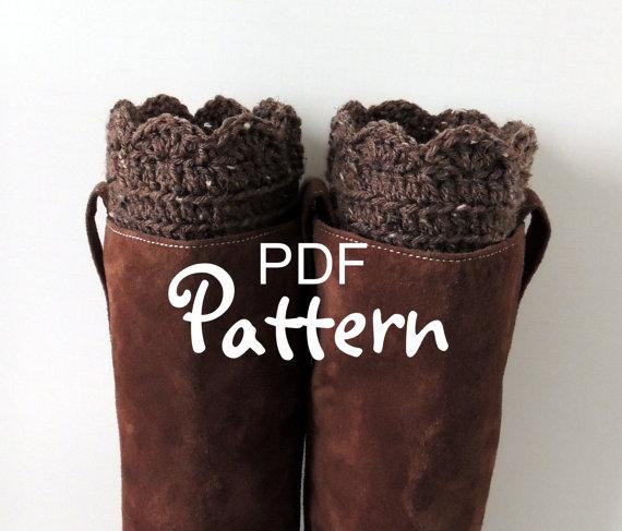 Pdf Crochet Pattern Fantastic Boot Cuffs Crochet Boot Cuffs