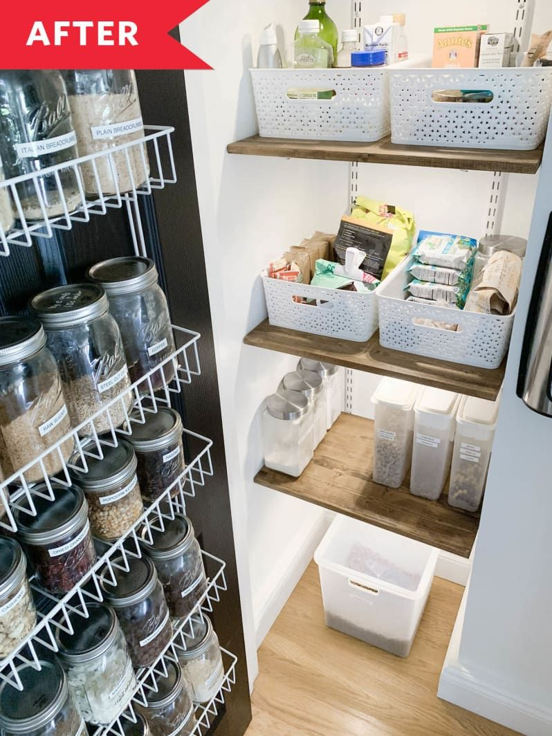 before and after how painting the door sparked a small pantry s organizational overhaul in 2020 on kitchen organization before and after id=96712