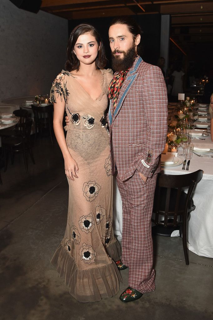 0e9558416c5d1 Selena Gomez with Jared Leto inside Business of Fashion s BoF500 Gala  Dinner in NYC