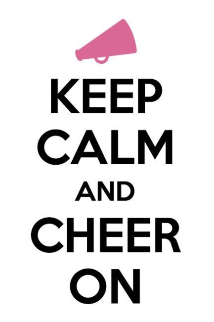 Keep Calm and Cheer On by HappyMonogramming on Etsy