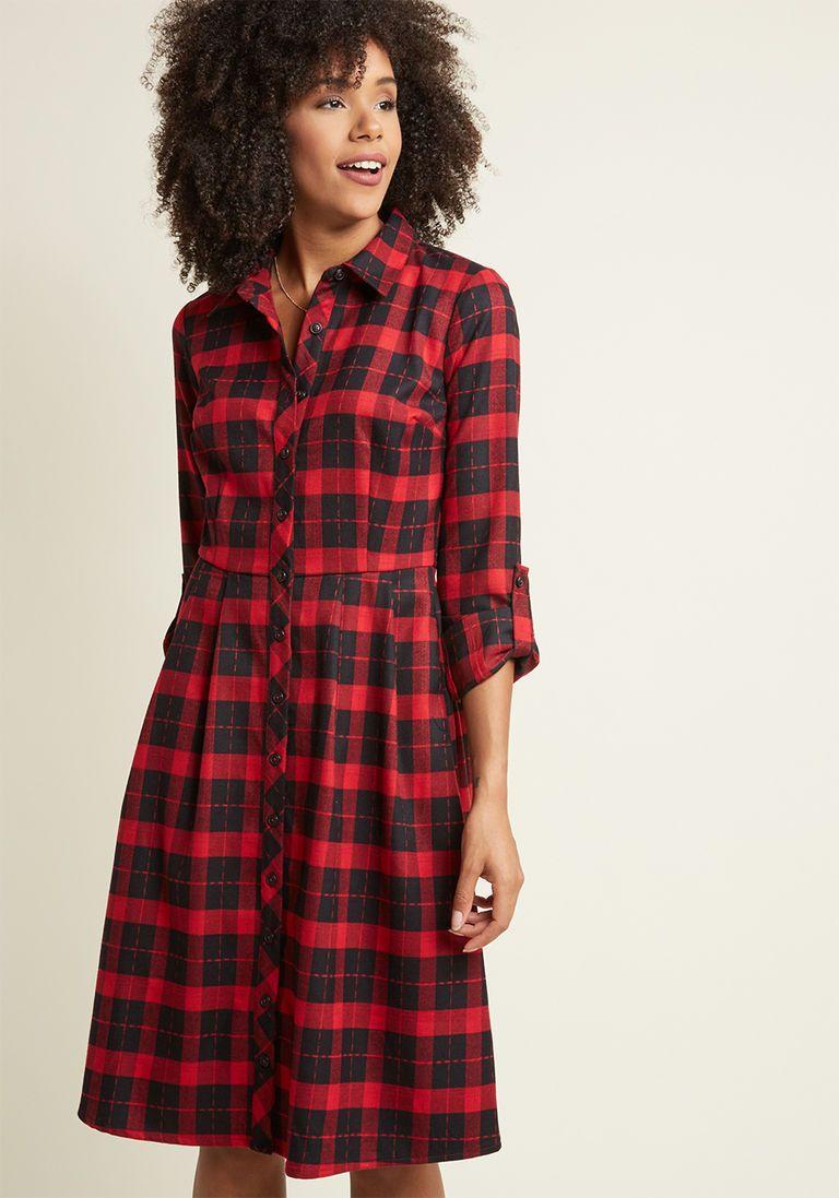Flannel shirt plus size  Jam Girl Shirt Dress in Strawberry  Style  Pinterest  Girl