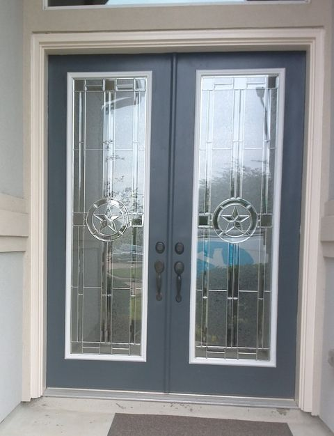 Before After Front Door Transformations Gl Insertsgl Panelsentry