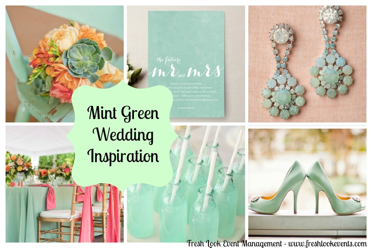Pretty Mint Green Wedding Decorations And Color Scheme Description From I