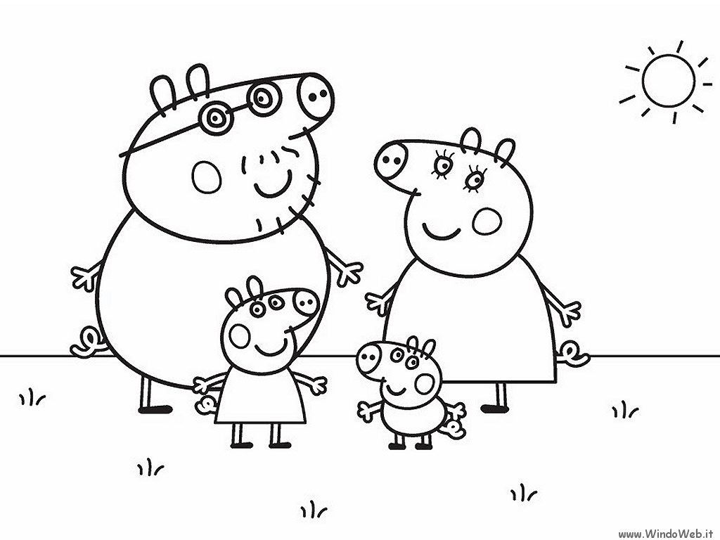 Nick Jr Coloring Pages Of Peppa Pig Through The Thousand Pictures On The Net Concerning Ni Peppa Pig Coloring Pages Family Coloring Pages Peppa Pig Colouring