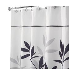 Aaron Approves Target Inter Leaves Shower Curtain Black Gray