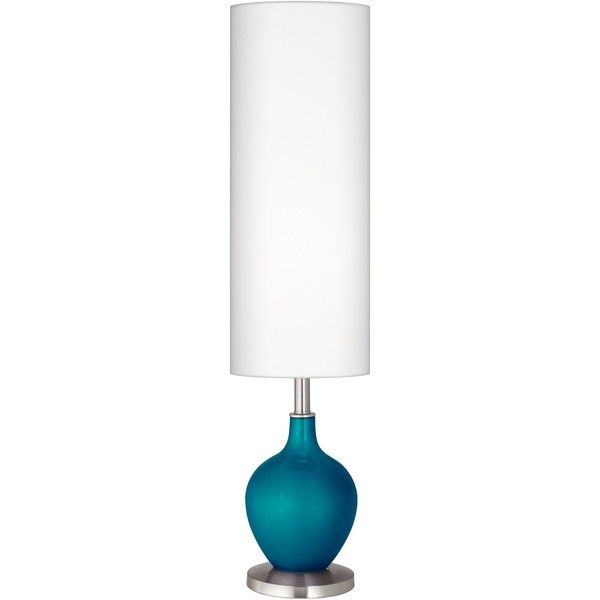 Color Plus Turquoise Metallic Ovo Floor Lamp ($170) ❤ Liked On Polyvore  Featuring Home