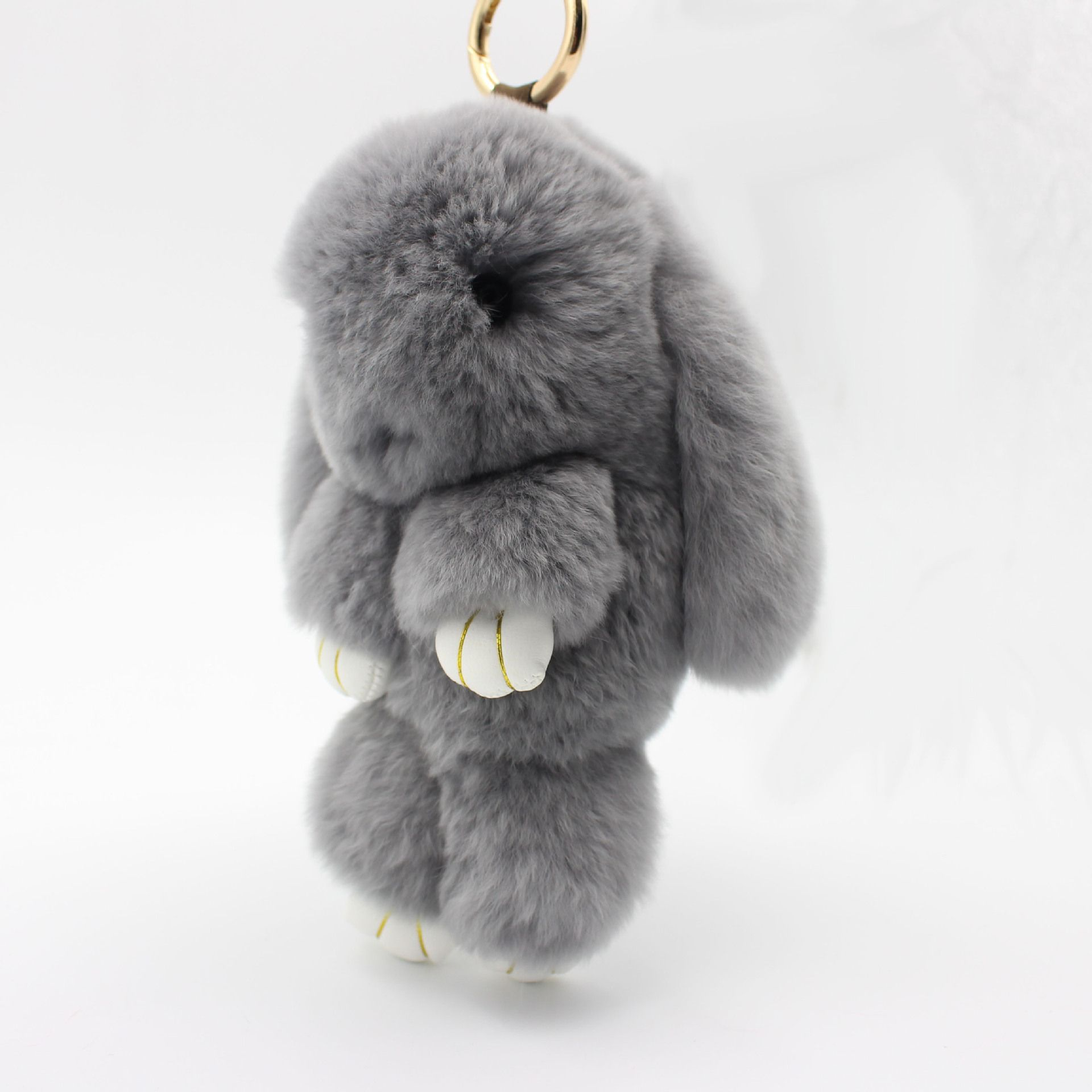 Toys car keys  cm Genuine Rabbit Fur Pom Pom Key Chain For Women Trinket Cute