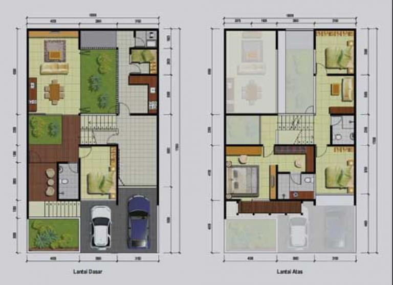 20 Gambar Denah Rumah Ukuran 8x10 3 Kamar Tidur Di 2020 Denah Rumah Rumah Rumah Minimalis