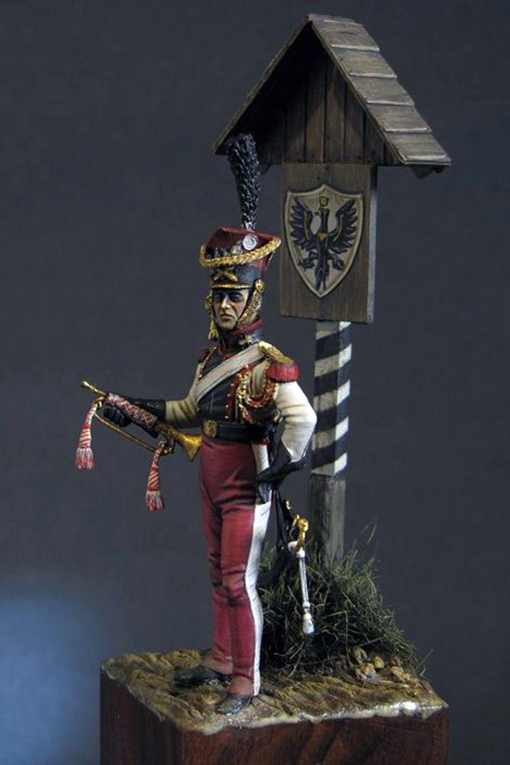 Tromba dei lancieri polacchi della guardia imperiale francese