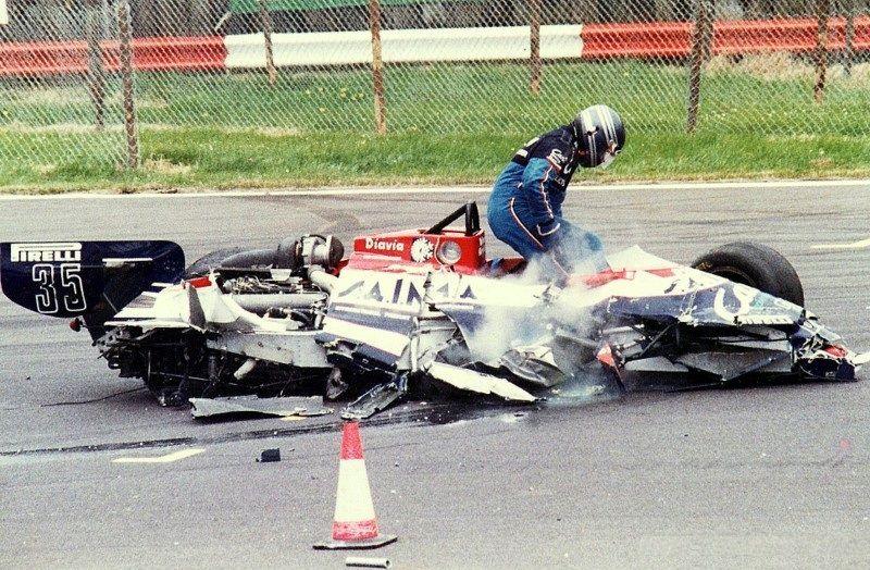game over … Brian Henton, Candy Toleman-Hart TG181, 1981 British Grand Prix, Silverstone