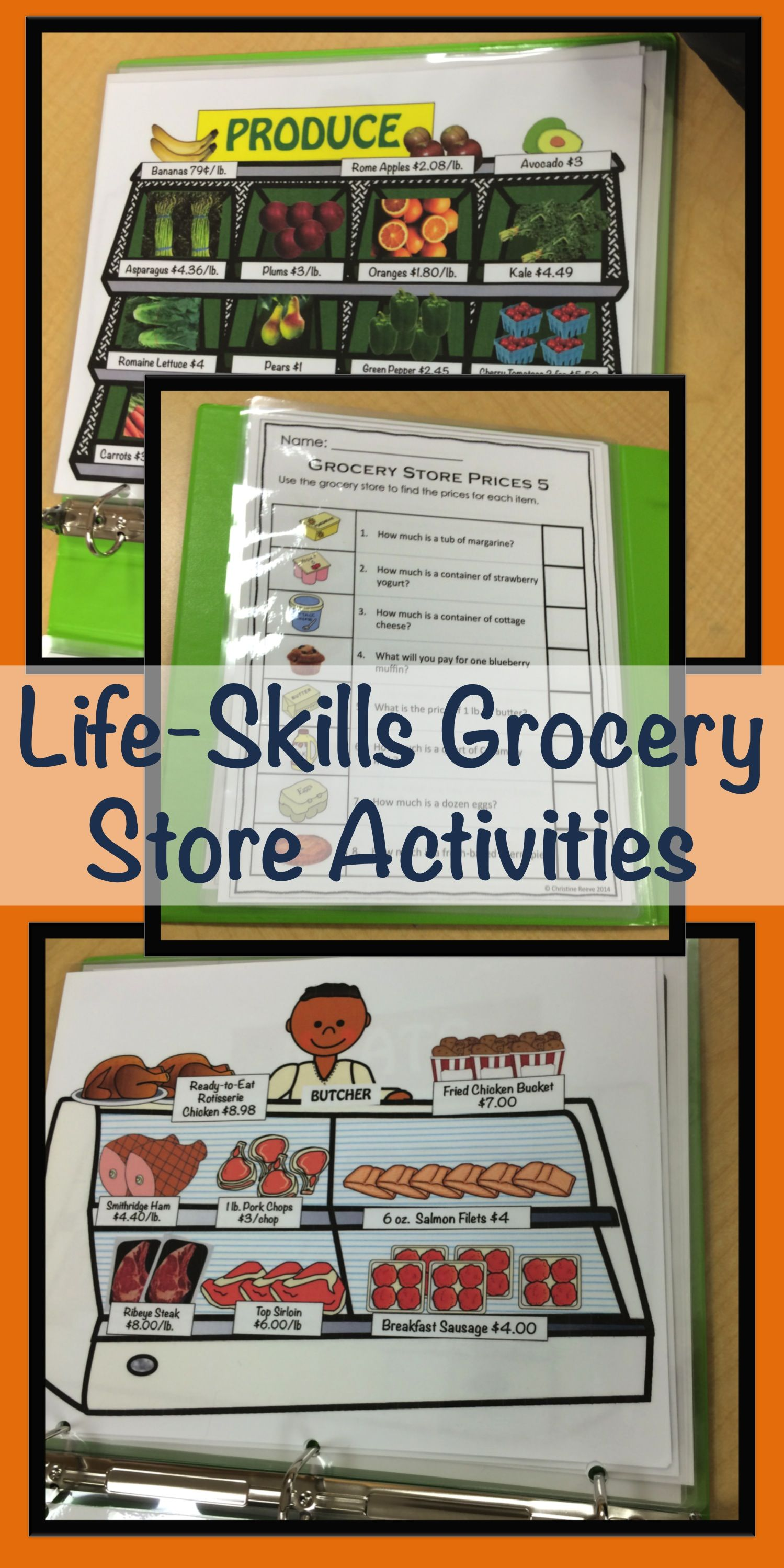 Special Education Grocery Store Activities For Functional