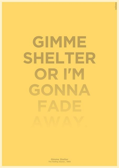 The Rolling Stones - Gimme Shelter - 1969 ~~own Album = Let