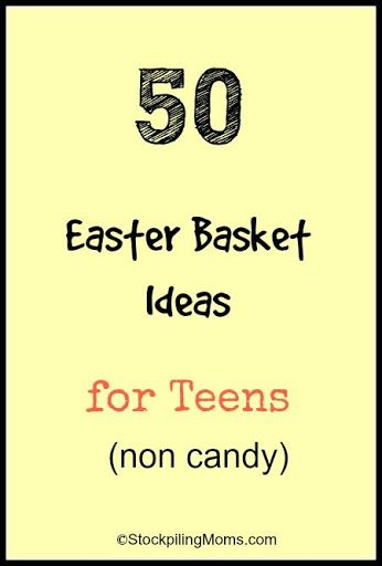 50 Easter Basket Ideas for Teens